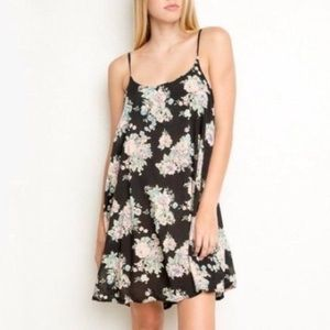 BRAND MELVILLE FLORAL MINI ONE SIZE DRESS